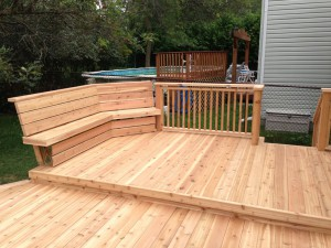 East half of the deck