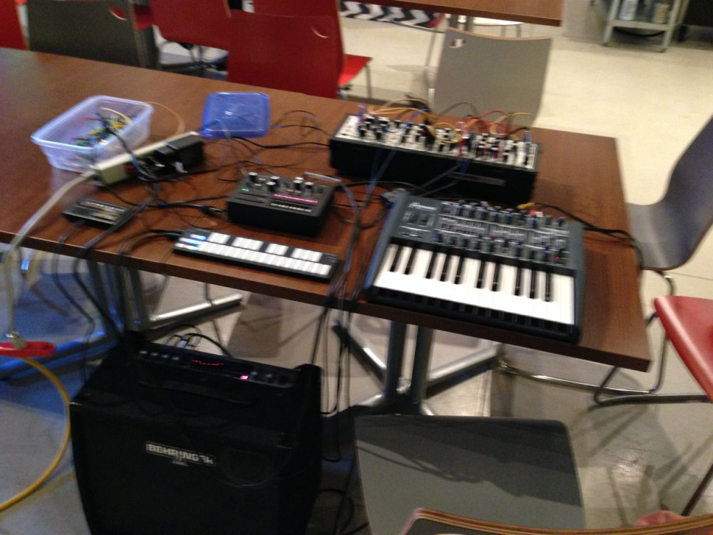 The synthesizers I brought