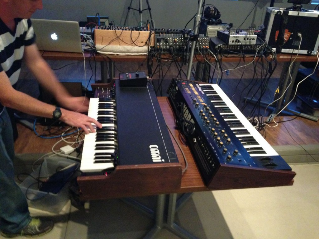 a pair of classic analog polysynths